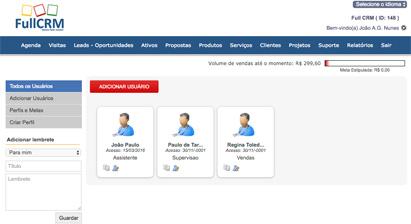 Funcionalidades CRM - Gerenciamento de equipe de vendas